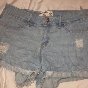 Abercrombie light wash shorts